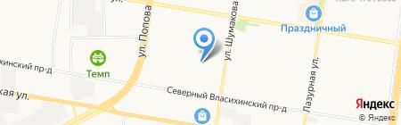 Сёма на карте Барнаула