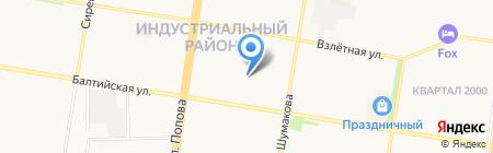 ЧинилКа на карте Барнаула