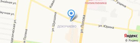 Планета на карте Барнаула