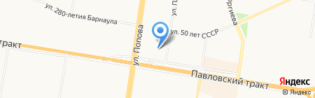 Суши-Маке на карте Барнаула