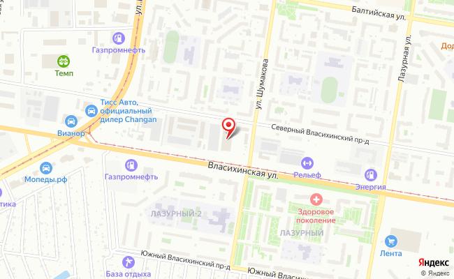 Карта расположения пункта доставки Халва в городе Барнаул