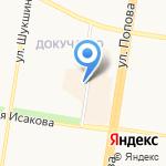 Живушка на карте Барнаула
