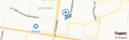 Академический на карте Барнаула