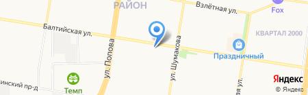 Белоснежка на карте Барнаула