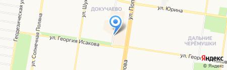 Зелёный остров на карте Барнаула