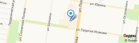 Банкомат АКБ РОСБАНК на карте Барнаула