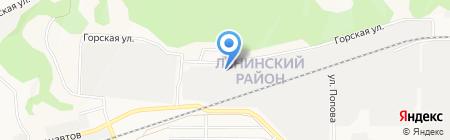 Солнечный круг на карте Барнаула