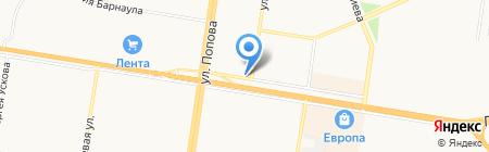 Киоск по продаже колбасных изделий и сыров на карте Барнаула