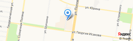 Запеканка на карте Барнаула