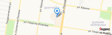 Кинза на карте Барнаула