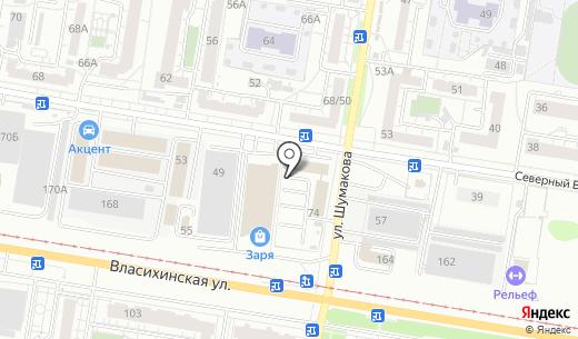 SRC сервис. Схема проезда в Барнауле
