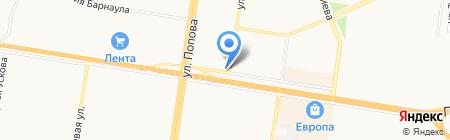 Магазин ритуальных товаров на карте Барнаула