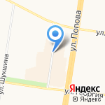 Киоск по продаже кондитерских изделий на карте Барнаула