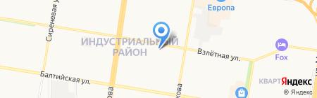 Кот Полоскин на карте Барнаула