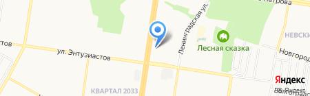 ТСЖ №134 на карте Барнаула