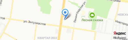 Пандора на карте Барнаула