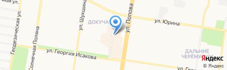 Оленька на карте Барнаула