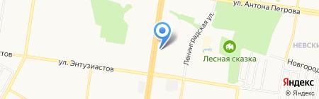 Шаталова О.И. на карте Барнаула