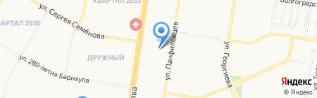 Детский сад №221 на карте Барнаула