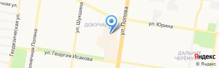 Магазин мужской обуви на карте Барнаула