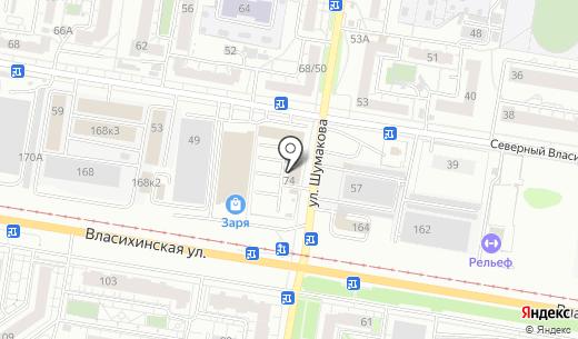 Hardcore Фитнес. Схема проезда в Барнауле