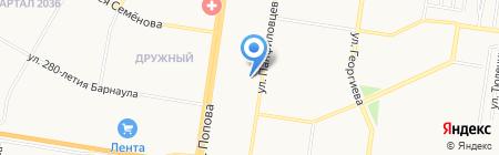 ГОЛОВНЫЕ УБОРЫ на карте Барнаула