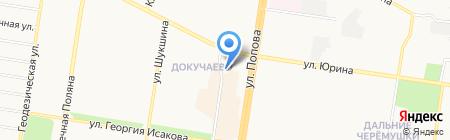 Спутник на карте Барнаула