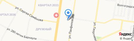 Детский сад №218 на карте Барнаула