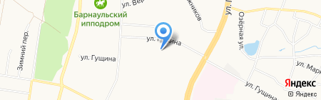 Детский сад №255 на карте Барнаула