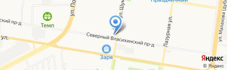 Кентавр на карте Барнаула