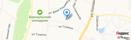 Потешки на карте Барнаула