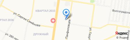 Средняя общеобразовательная школа №114 с углубленным изучением отдельных предметов на карте Барнаула