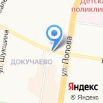 Деньга на карте Барнаула
