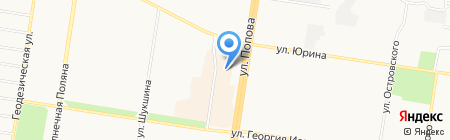 Магазин женской обуви на карте Барнаула