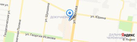 Магазин кожгалантереи на карте Барнаула