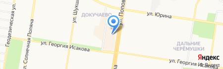 Серебряная нить на карте Барнаула