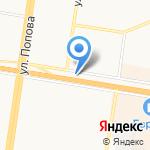 Любава на карте Барнаула