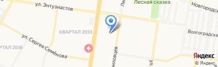 Снежинка на карте Барнаула