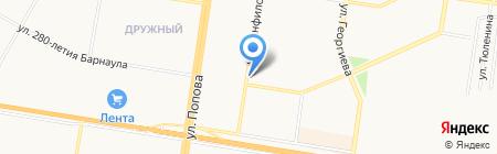 Мастерская по ремонту швейных машин и изготовлению ключей на карте Барнаула