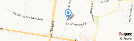 Орион на карте Барнаула
