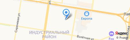 Мясоешка на карте Барнаула