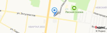 Магазин по продаже кур-гриль на карте Барнаула