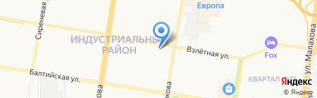 Почтовое отделение №58 на карте Барнаула