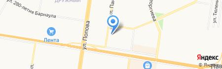 Аникс на карте Барнаула