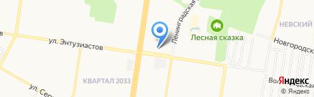 Сеть магазинов на карте Барнаула
