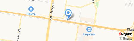 Автовокзал на карте Барнаула