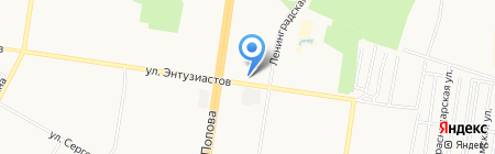 Унисон на карте Барнаула
