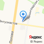Чайкофъ на карте Барнаула