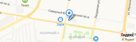 Малибу на карте Барнаула