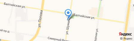 КБ ФорБанк на карте Барнаула